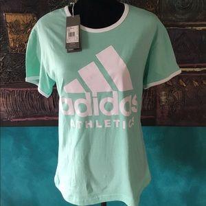 Adidas mint green tee shirt